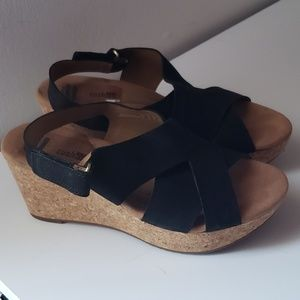 Clark's Cork Wedges